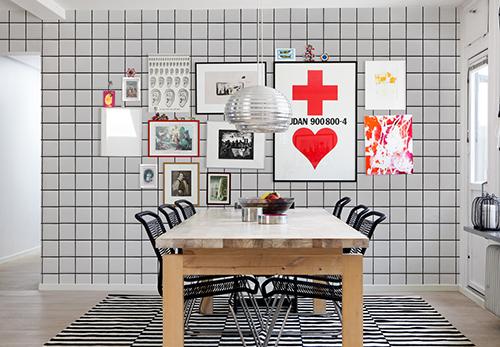The Minimalist x Mr Perswall x white tiles wallpaper