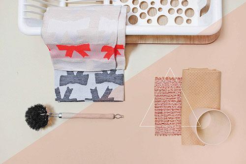 The Minimalist x Bow tea towel by Mae Engelgeer