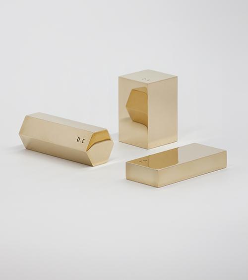 The Minimalist x Daniel Emma brass paperweights