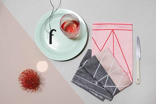 The Minimalist x Colourful Fest tea towel by Mae Engelgeer