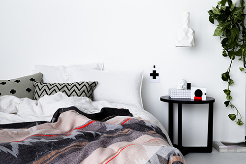 The Minimalist x Mae Engelgeer Ish collection Mint ish blanket