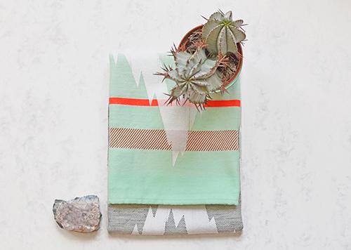 The Minimalist x Mae Engelgeer Ish collection Mint ish tea towel