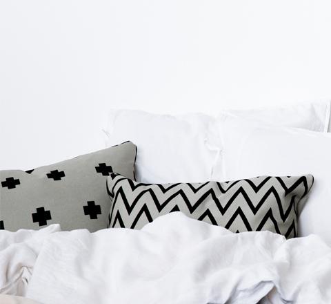 The Minimalist x Zig zag vs cross cushion by Jennifer and Smith styled
