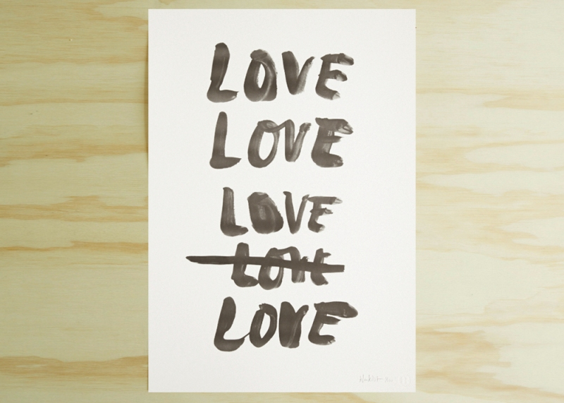 The Minimalist Home - Loves Me limited edition print by Blacklist Studio