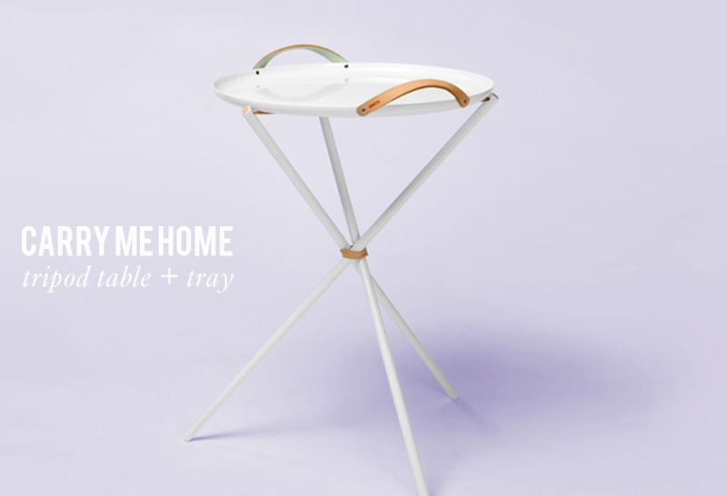The Minimalist x & Bros carry me home tripod table and tray